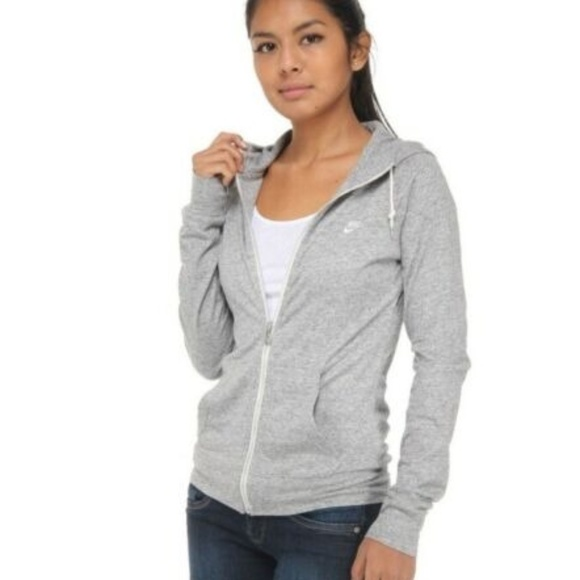 super populaire 9a80f 3b6e4 Nike AW77 Time Out Heather Gray Hoodie Sweatshirt